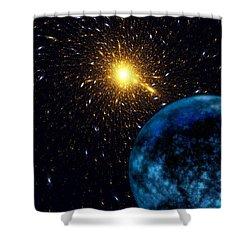 The Blue Planet Shower Curtain by Klara Acel