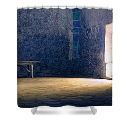 The Blue Room Shower Curtain by Bob Christopher
