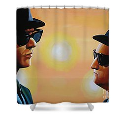 The Blues Brothers Shower Curtain by Paul Meijering