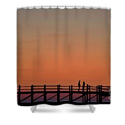 The Boardwalk Shower Curtain by Heiko Koehrer-Wagner