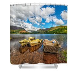 The Boats  Shower Curtain by Adrian Evans