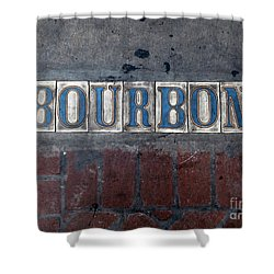 The Bourbon Street Sign Shower Curtain by Joseph Baril