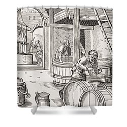 The Brewer Shower Curtain by French School