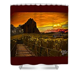 The Bridge Shower Curtain by Gerry Robins