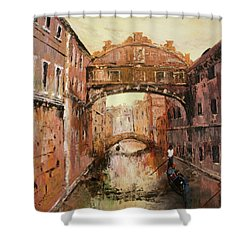 The Bridge Of Sighs Venice Italy Shower Curtain by Jean Walker