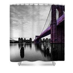 The Brooklyn Bridge Shower Curtain by Brian Reaves