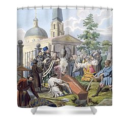 The Burial, 1812-13 Shower Curtain by E. Karnejeff