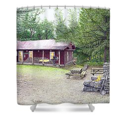The Cabin In The Woods Shower Curtain by Albert Puskaric