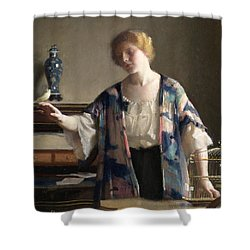 The Canary Shower Curtain by William McGregor Paxson