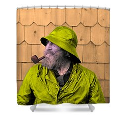 The Cape Ann Fisherman Shower Curtain by Digital Reproductions