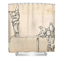 The Captain Shower Curtain by H James Hoff