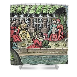 The Castle Of Alamond And Its Enchantments Shower Curtain by French School