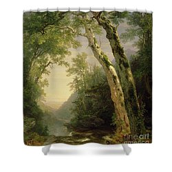 The Catskills Shower Curtain by Asher Brown Durand