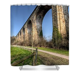 The Cefn Mawr Viaduct Shower Curtain by Adrian Evans