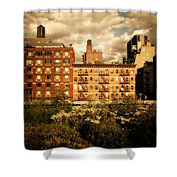 The Chelsea Skyline - High Line Park - New York City Shower Curtain by Vivienne Gucwa