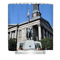 The Chester County Courthouse In West Chester Pa Shower Curtain by Bill Cannon