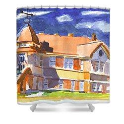 The Church On Shepherd Street II Shower Curtain by Kip DeVore