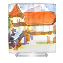 The Church On Shepherd Street V Shower Curtain by Kip DeVore