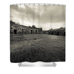 The Citadel At Fort Macomb Shower Curtain by David Morefield