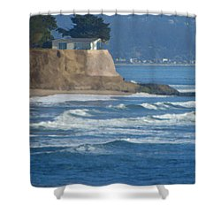 The Cliff House Shower Curtain by Deana Glenz