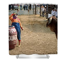 The Clown Shower Curtain by Jerry McElroy