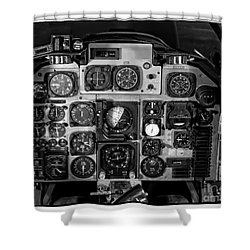 The Cockpit Shower Curtain by Edward Fielding