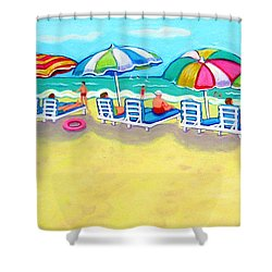 The Color Of Summer  Shower Curtain by Rebecca Korpita