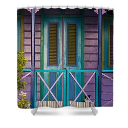 The Color Purple Shower Curtain by Rene Triay Photography