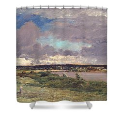 The Coming Storm Shower Curtain by Charles Francois Daubigny