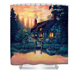 The Cottage Shower Curtain by MGL Studio - Chris Hiett