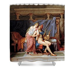 The Courtship Of Paris And Helen Shower Curtain by Jacques Louis David