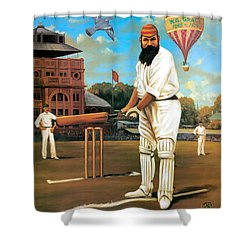 The Cricketers Shower Curtain by Peter Green