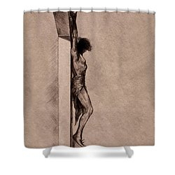 The Cross 2 Shower Curtain by Derrick Higgins