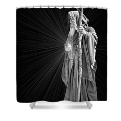 The Crystal Shower Curtain by Kristin Elmquist