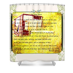 The Cubby House Shower Curtain by Barbara Griffin