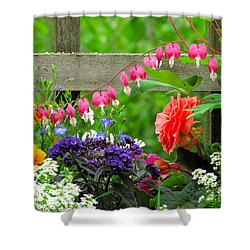 The Dance Of Spring Shower Curtain by Sean Griffin