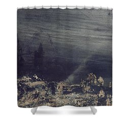 The Dead City Shower Curtain by Victor Hugo