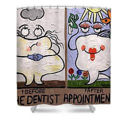 The Dentist Appointment Dental Art By Anthony Falbo Shower Curtain by Anthony Falbo