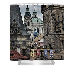The Depths Of Prague Shower Curtain by Joan Carroll