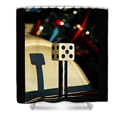 The Die Shower Curtain by Chris Berry