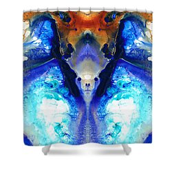 The Dragon - Visionary Art By Sharon Cummings Shower Curtain by Sharon Cummings