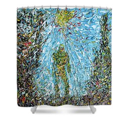 The Drama Of The Earth Shower Curtain by Fabrizio Cassetta