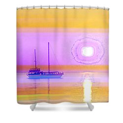 The Drifters Dream Shower Curtain by Holly Kempe