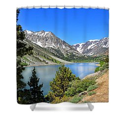 The Drive By Lundy Lake Shower Curtain by Lynn Bauer