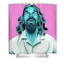 The Dude Shower Curtain by Ellen Patton
