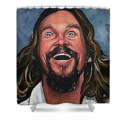 The Dude Shower Curtain by Tom Carlton