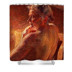 The Effect Of Sunlight Shower Curtain by Umberto Boccioni