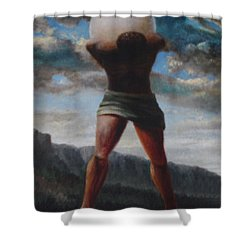 The Egg Of Ron Wood Shower Curtain by Genio GgXpress