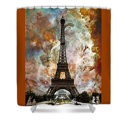 The Eiffel Tower - Paris France Art By Sharon Cummings Shower Curtain by Sharon Cummings
