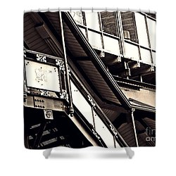 The Elevated Station At 125th Street 2 Shower Curtain by Sarah Loft